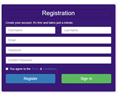 coderwell Bootstrap Responsive Registration